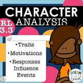 RL 3.3 Character Traits, Responses, & Motivations - Differentiated Stories