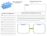 RL 3.3 Character Traits Graphic Organizer