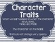 RL.3.3 Character Traits, Motivations, and Feelings Posters