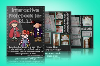RL.3.3 Interactive Notebook for Character Feelings, Traits, and Motivations