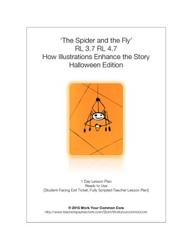 RL 3.7 4.7 Scripted LESSON How Illustrations Add To Story SPIDER & FLY Edition