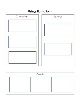 RL.3.7 Differentiated Graphic Organizer-Use Illustrations to Describe Characters
