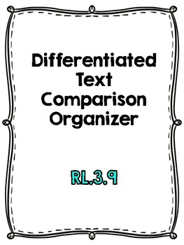 RL.3.9 Compare and Contrast Packet for Madelines Stories