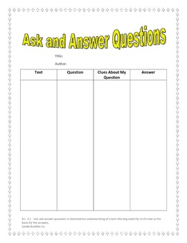 R.L. 3.1 - Ask and Answer Questions