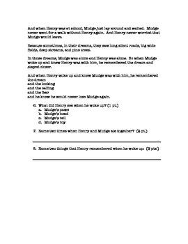 RL 3.1 Reading Assessment