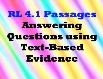RL 4.1 - Answering Questions from the Text