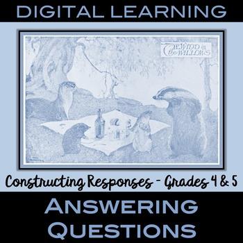 RL.4.1 RL.5.1 Answering Questions Digital Version - Grades