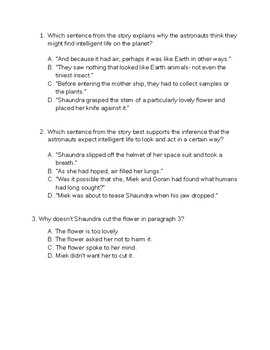 RL 4.1 Test Prep 1 - Answering Questions from the Text