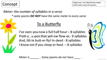 Rl 4 5 Powerpoint Meter In Poetry By Direct Instruction Shop Tpt In this document the stressed each line of a poem contains a certain number of feet of iambs, trochees, spondees, dactyls or. rl 4 5 powerpoint meter in poetry
