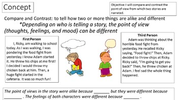 RL 4.6 PowerPoint: Compare and Contrast Point of View
