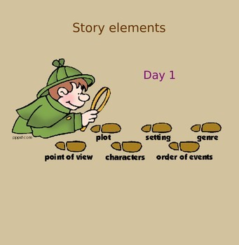 RL 4.3 Story Elements (Four lessons in SmartBoard)