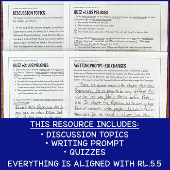 RL.5.5 Lesson To Use With Esperanza Rising