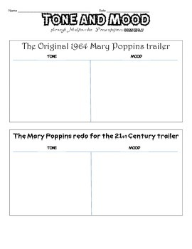 R.L. 5.7 TONE & MOOD Comparing Multimedia through Mary Poppins Movie Trailers