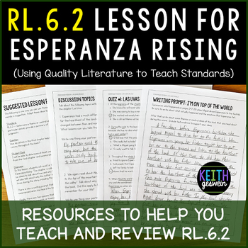 RL.6.2 Lesson To Use With Esperanza Rising