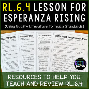 RL.6.4 Lesson To Use With Esperanza Rising