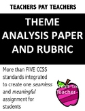 RL.7.2 7th GRADE Theme Analysis Paper and Rubric