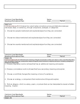 RL Common Core questions