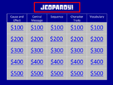 Literature FSA 3rd Grade Test Prep Jeopardy-Style Game