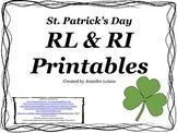 RL and RI St. Patrick's Day Printables