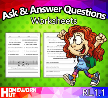 RL1.1 - Ask and Answer Questions Worksheets