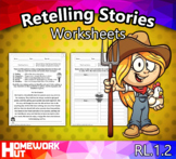 RL.1.2 - Retelling Stories Worksheets
