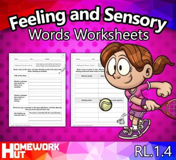 RL.1.4 - Feeling and Sensory Words Worksheets