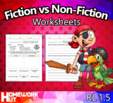 RL.1.5 - Comparing Fictions and Non-Fiction Worksheets