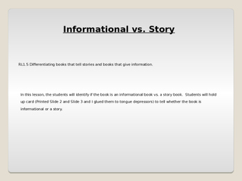 RL1.5-Informational vs Story