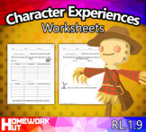 RL.1.9 - Compare and Contrast Character Experiences Worksheets