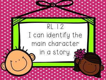 RL.1.2 Identify the Character in a Passage