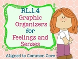 RL.1.4 Graphic Organizers for Feelings and Senses