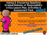 RL2.1 Asking & Answering Questions Gradual Release Mini-Lesson & Activity BUNDLE