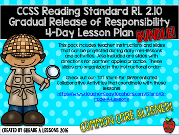 RL2.10 Comprehending Literature Gradual Release Mini-Lesson & Activity BUNDLE
