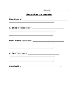 RL2.2 SPANISH graphic organizer