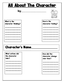 RL2.3 Describing the character in a story