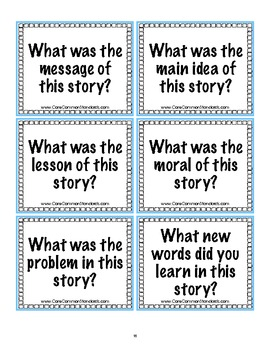 RL.2.2 Second Grade Common Core Worksheets, Activity, and Poster
