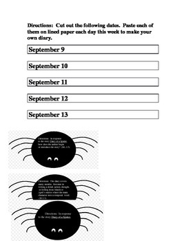 RL2.5  W2.3 Diary of a Spider Journal