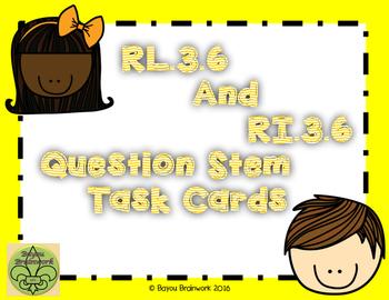 RL3.6 and RI.3.6 Question Stem Task Card
