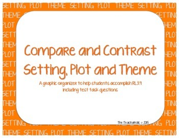 Compare & Contrast Graphic Organizer with Test Tasks