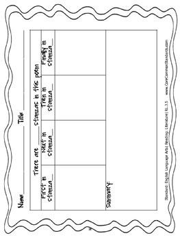rl 3 5 third grade common core worksheets activity and poster tpt. Black Bedroom Furniture Sets. Home Design Ideas