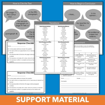 Answering Questions Practice Pack - Fourth Grade Constructed Response