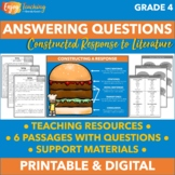 Answering Questions Practice Pack - Fourth Grade Construct
