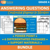 Answering Questions Unit - Fourth Grade Constructed Response [Differentiated]