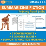 Summarizing Fiction PowerPoint and Google Slides   How to