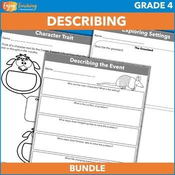 Describing a Character Practice Pack - Fourth Grade Constr