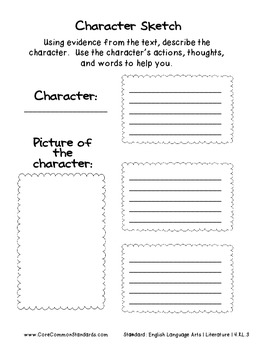 RL.4.3 Fourth Grade Common Core Worksheets, Activity, and Poster