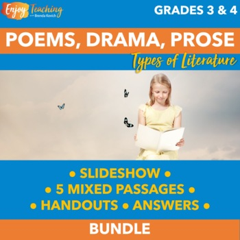 Prose, Drama, and Poetry Unit - Third and Fourth Grade