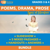 Distance Learning ELA Activities - Poetry, Prose & Drama T