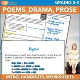 Poems, Drama & Prose - Literature Unit for Grades 3 & 4