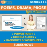 Poetry, Prose, and Drama PowerPoint - Third and Fourth Grade